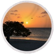 Gorgeous Sunset Round Beach Towel by DejaVu Designs