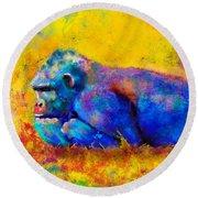 Gorilla Round Beach Towel by Sean McDunn