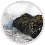 Gorillas In The Mist  Round Beach Towel