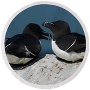 Gossip Mongers Round Beach Towel by Brent L Ander