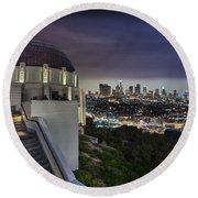 Gotham Griffith Observatory Round Beach Towel