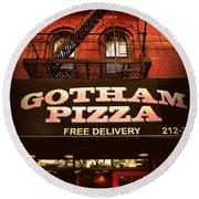 Gotham Pizza Round Beach Towel