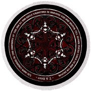 Gothic Celtic Mermaids Round Beach Towel