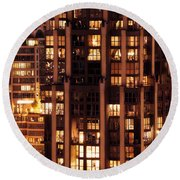 Round Beach Towel featuring the photograph Gothic Living - Yaletown Ccclxxx by Amyn Nasser