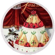 Gourmet Cover Featuring A Cake Round Beach Towel