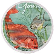 Gourmet Cover Featuring A Snapper And Pompano Round Beach Towel