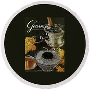 Gourmet Cover Featuring A Wine Cooler Round Beach Towel