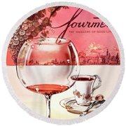 Gourmet Cover Illustration Of A Baccarat Balloon Round Beach Towel