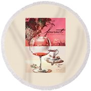Gourmet Cover Illustration Of A Baccarat Balloon Round Beach Towel by Henry Stahlhut