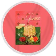 Gourmet Cover Illustration Of A Molded Rice Round Beach Towel
