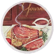 Gourmet Cover Of A Roast Beef Round Beach Towel