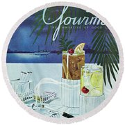 Gourmet Cover Of Cocktails Round Beach Towel