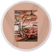 Gourmet Cover Of Pressed Duck Round Beach Towel