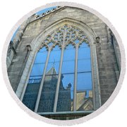 Round Beach Towel featuring the photograph Grace Episcopal Church Nyc by Emmy Marie Vickers