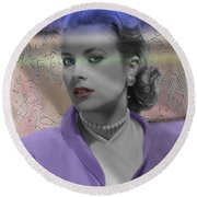 Grace Kelly - Featured In Comfortable Art Group Round Beach Towel by EricaMaxine  Price