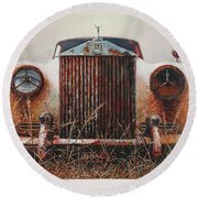 Grace - Rolls Royce Round Beach Towel
