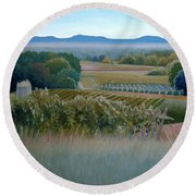 Grace Vineyards No. 1 Round Beach Towel