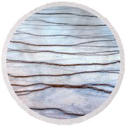 Gradations Round Beach Towel