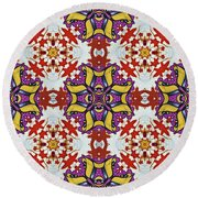Graffito Kaleidoscope 40 Round Beach Towel