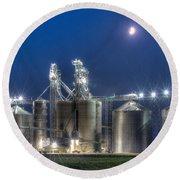 Grain Processing Plant Round Beach Towel