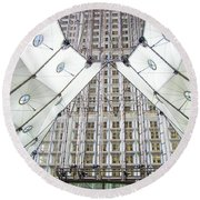 Grand Arche  Round Beach Towel by Oleg Zavarzin