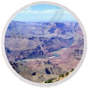 Round Beach Towel featuring the photograph Grand Canyon 64 by Will Borden