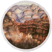 Grand Canyon Arizona - Landscape Art Painting Round Beach Towel