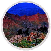 Grand Canyon Beauty Exposed Round Beach Towel by Jim Hogg