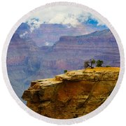 Grand Canyon Clearing Storm Round Beach Towel