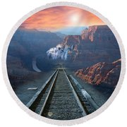 Grand Canyon Collage Round Beach Towel