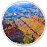 Grand Canyon In Vivid Color Round Beach Towel