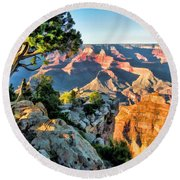 Grand Canyon National Park Ledge Round Beach Towel