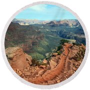 Grand Canyon National Park South Kaibab Trail Round Beach Towel