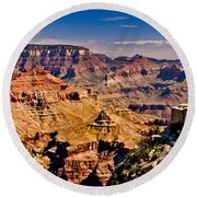 Grand Canyon Painting Round Beach Towel