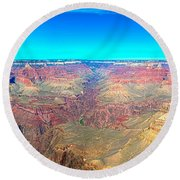 Grand Canyon Panorama Round Beach Towel
