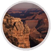 Round Beach Towel featuring the photograph Grand Canyon Sunrise by Liz Leyden