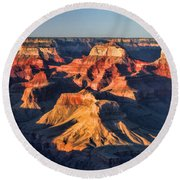 Grand Canyon National Park Sunset Round Beach Towel