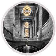 Grand Central Station IIi Ck Round Beach Towel