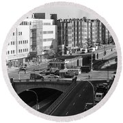 Grand Concourse Bronx Round Beach Towel