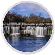 Grand Falls In Joplin Missouri Round Beach Towel