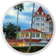 Grand Floridian Resort Walt Disney World Round Beach Towel
