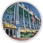 Grand Hotel - Image 001 Round Beach Towel