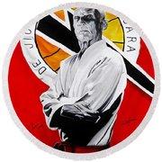 Grand Master Helio Gracie Round Beach Towel