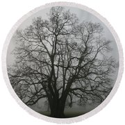 Grand Oak Tree Round Beach Towel