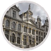 Grand Place Detail Round Beach Towel