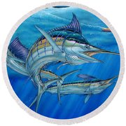 Grand Slam And Lure. Round Beach Towel
