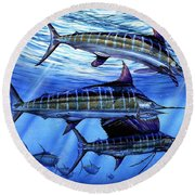 Grand Slam Lure And Tuna Round Beach Towel
