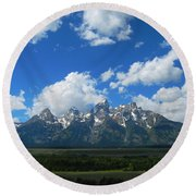 Grand Teton National Park Round Beach Towel by Janice Westerberg