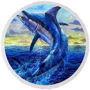 Grander Off007 Round Beach Towel
