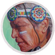 Grandfather Round Beach Towel